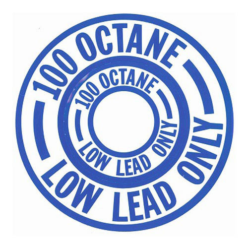 Decal-100 Low Lead Octane (Blue)