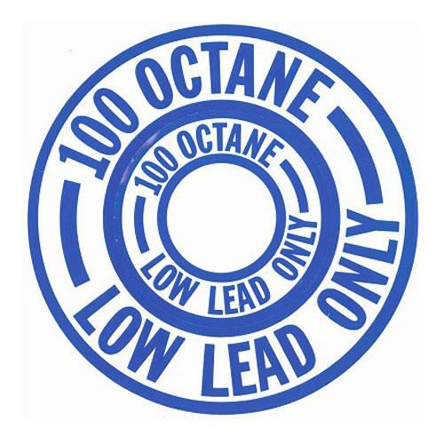 Decal-100 Low Lead Octane (Blue)