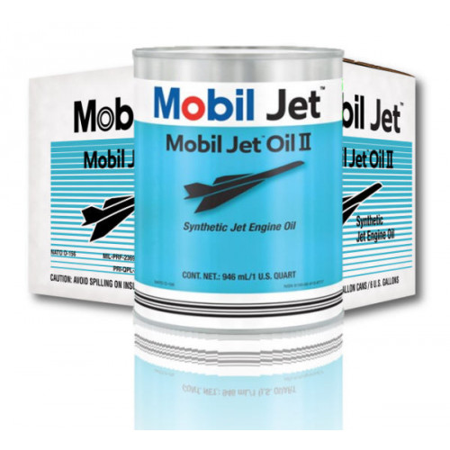 Mobil Jet Oil II - Case of 24 US Quarts