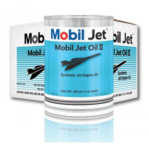 Mobil Jet Oil II - Case of 24 US Quarts