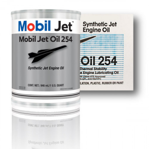 Mobil Jet Oil 254 - Case of 24 US Quarts