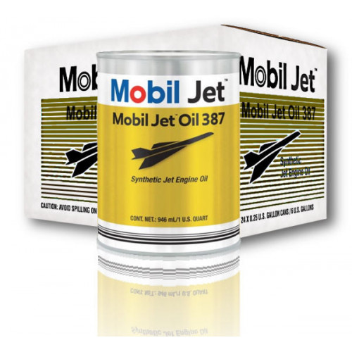 Mobil Jet Oil 387 - Case of 24 US Quarts