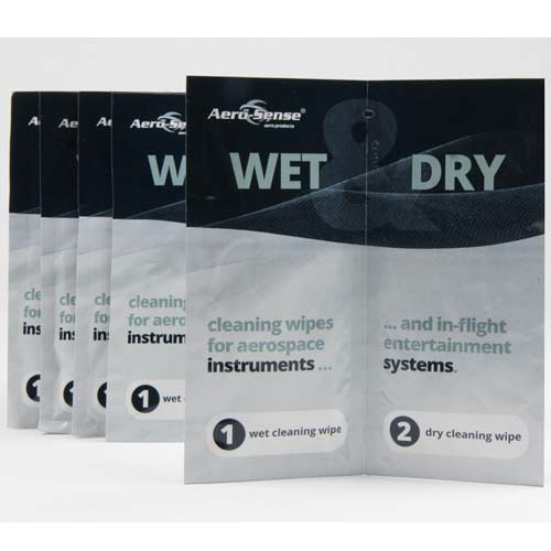 Aero-Sense Wet & Dry wipes For Instruments (Twin sachet)