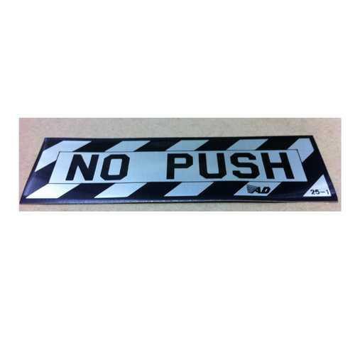 No-Push Decal