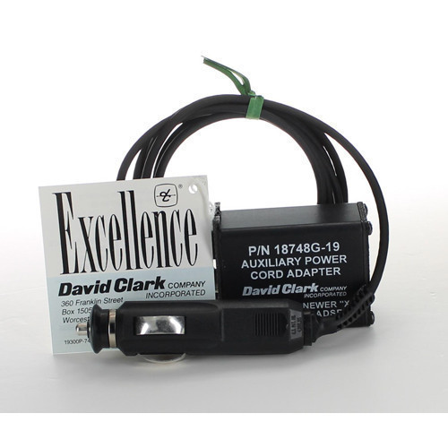 David Clark CIG PWR Adaptor For ANR