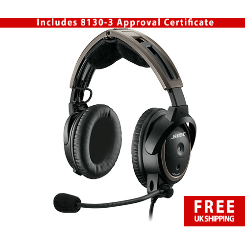 Bose A20 with Bluetooth - Airbus XLR5 Plug - 8130-3 Certificate
