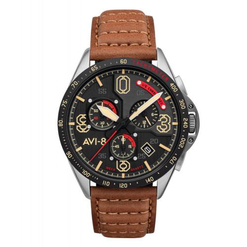 AVI-8 Blakeslee Chronograph Pilots Watch - Bronze Oak