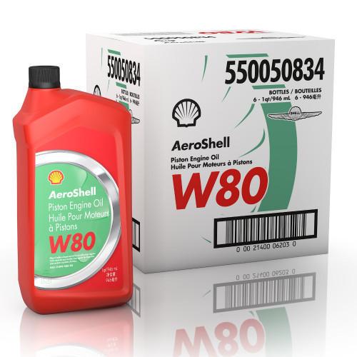 AeroShell W80 Case of 6 USQ Bottles