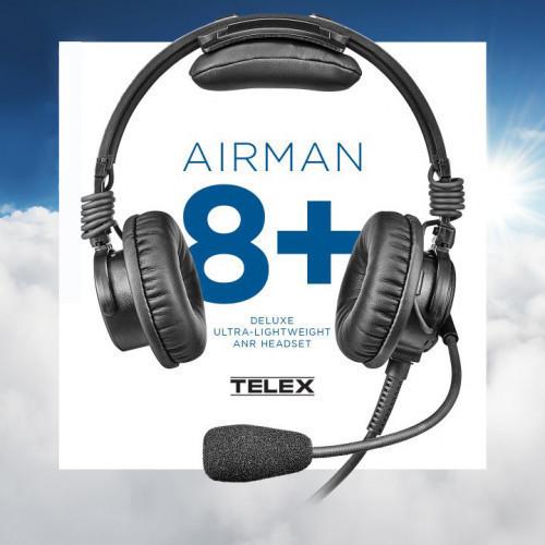 Telex Airman 8 Plus Aviation Headset