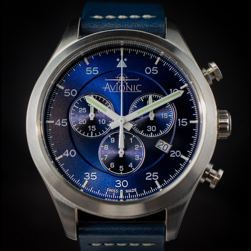 Avionic Blue Sky Pilots Chronograph Watch