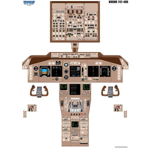 747-400 Cockpit Training Poster