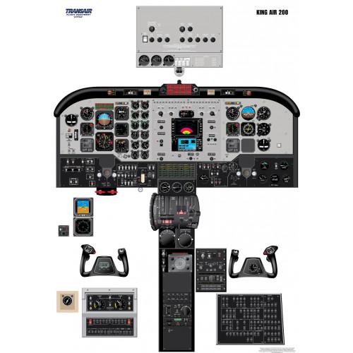 Beechcraft King Air 200 Cockpit Training Poster