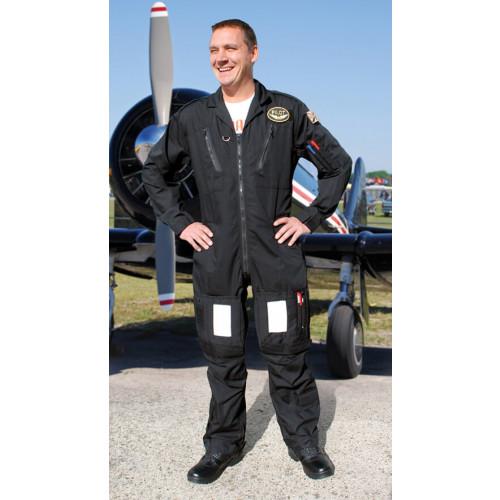 Transair Black Polycotton Flightsuit
