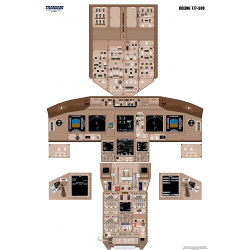 Boeing 777-300 Cockpit Training Poster