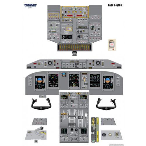 Bombardier Dash 8 - Q400 Cockpit Training Poster
