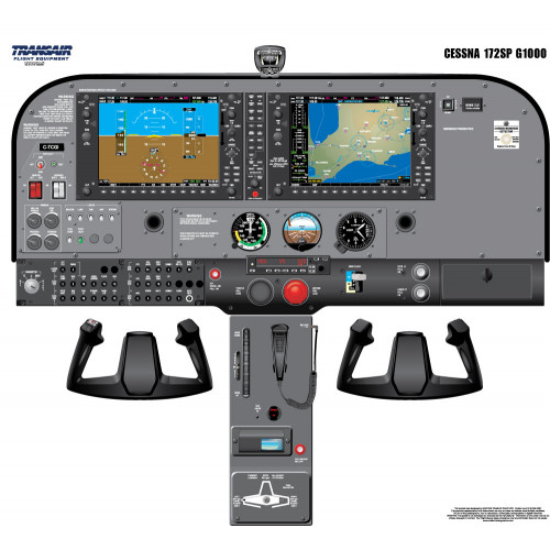 Cessna 172 SP G1000 Cockpit Training Poster