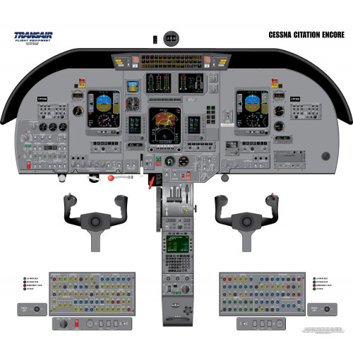 Cessna Citation Encore Cockpit Training Poster
