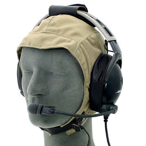 Leather Cloth Headset Flying Helmet