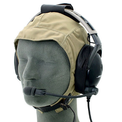 Leather Cloth Headset Flying Helmet