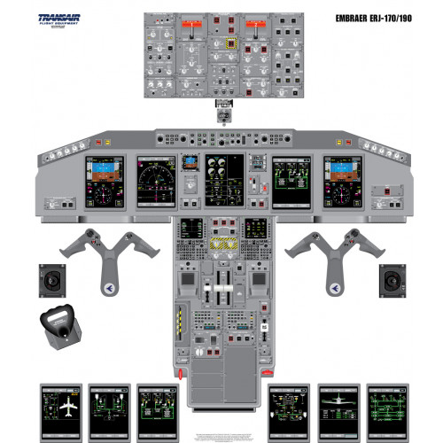 Embraer ERJ 170/190 Cockpit Training Poster