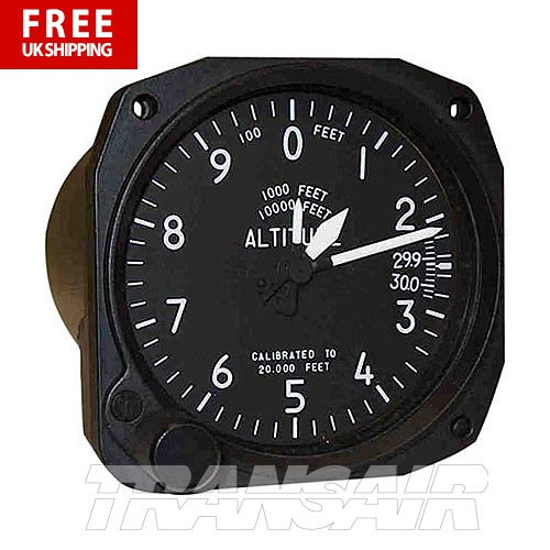 Falcon 3-1/8 Altimeter 3 Pointer 20 000FT Mililbar