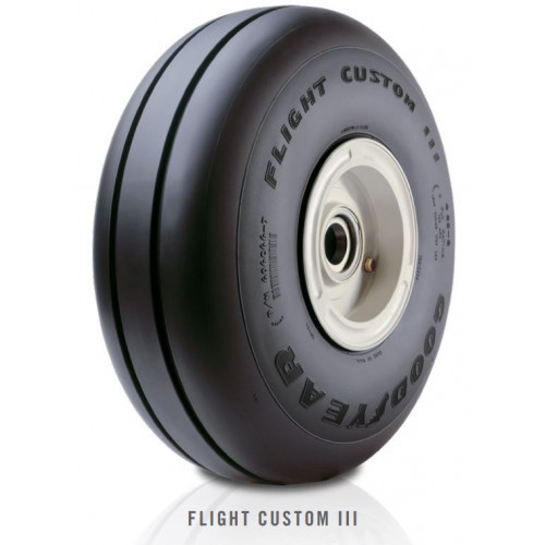 Goodyear Flight Custom III 505C66-5 Aircraft Tyre Size 5.00-5 6 Ply