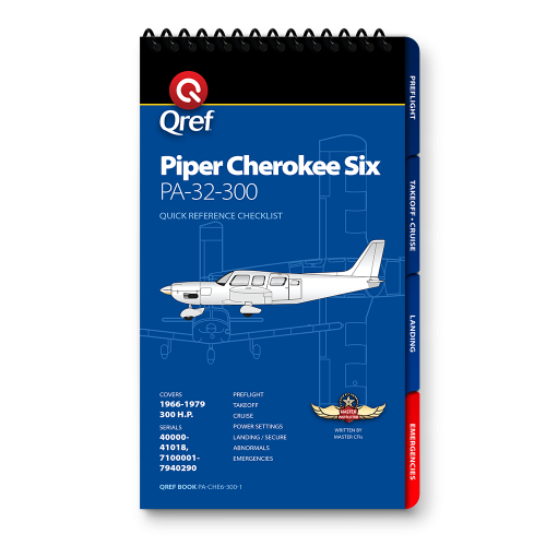 Piper Cherokee Six PA-32-300 Qref Checklist