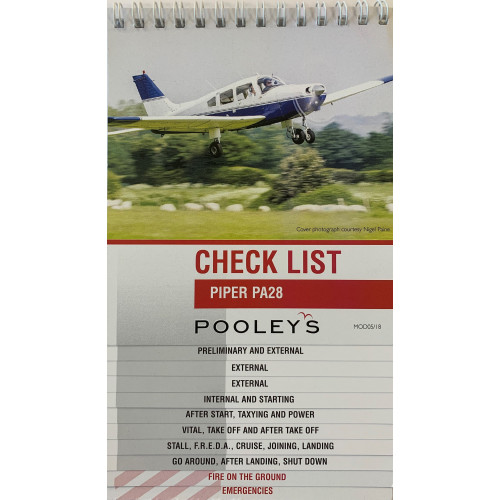 Pooleys Piper PA28 Checklist