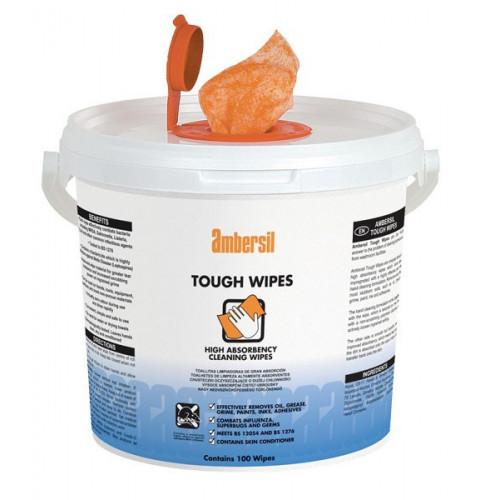 Ambersil Tough Wipes - 100 Wipes Tub
