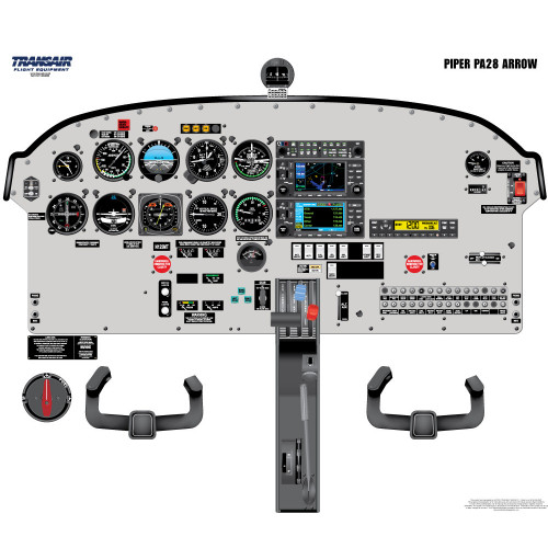 Piper PA28 Arrow Cockpit Training Poster
