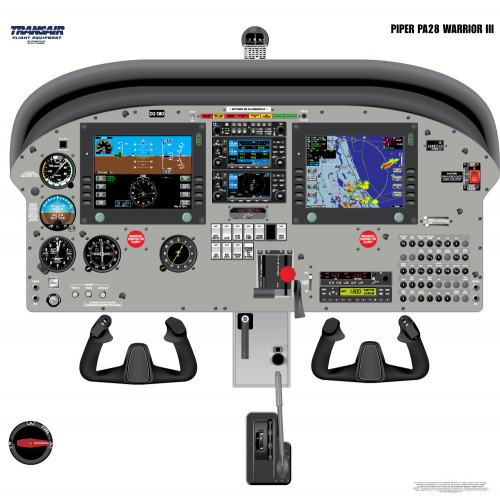 Piper PA28 Warrior III Cockpit Training Poster