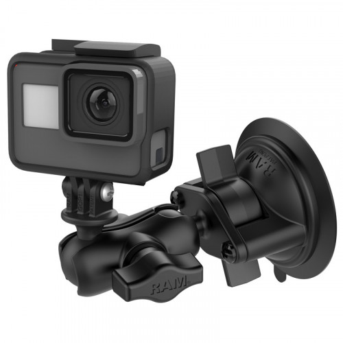 RAM Twist-Lock Suction Cup Mount with Universal Action Camera Adapter