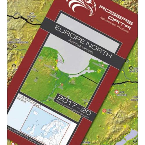 European Aerodromes North 1:2 500 000 Chart - Roger Data