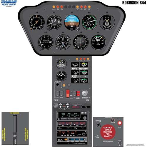 R44 Cockpit Training Poster