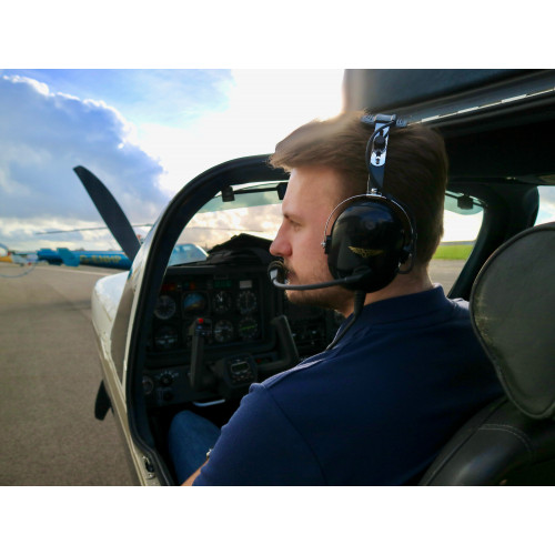 Transair TA-200 Pilots Headset Twin GA Plugs