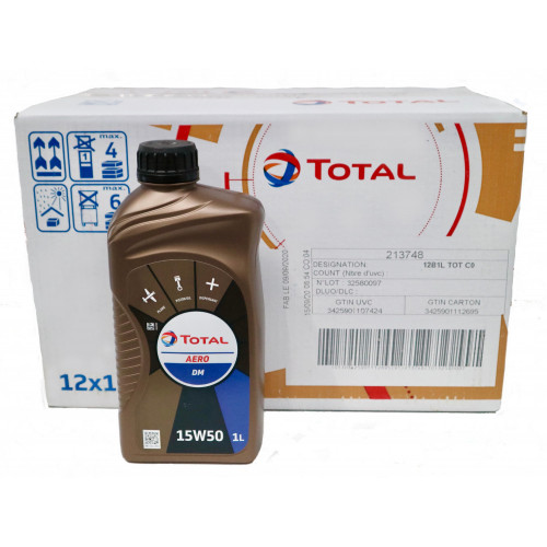 Total Aero DM 15W50 - Case of 12 Litres