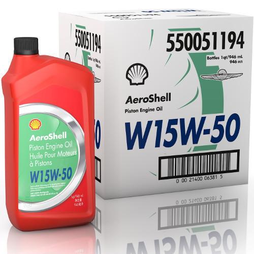 AeroShell 15W-50 - 6  x 1 US Quart Bottles