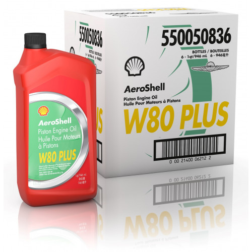 AeroShell W80 Plus - 6 US Quart Case