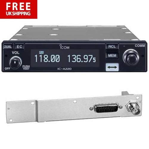 Icom IC-A220T Airband Transceiver - including MB-113 Adaptor