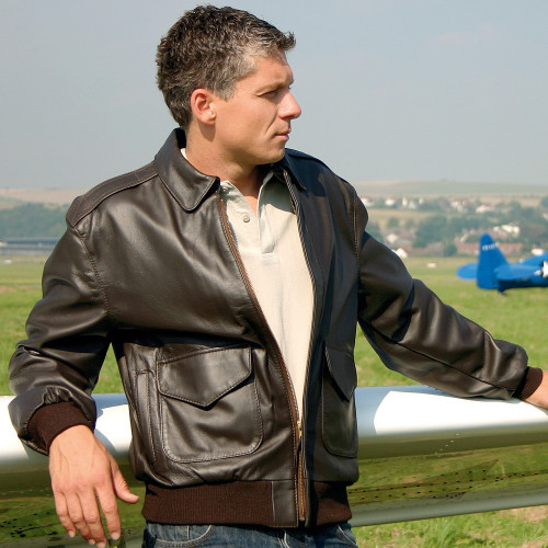 Transair USAF A-2 Brown Leather Pilot Jacket
