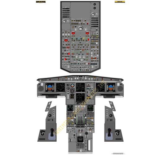 Airbus A330 Cockpit Poster