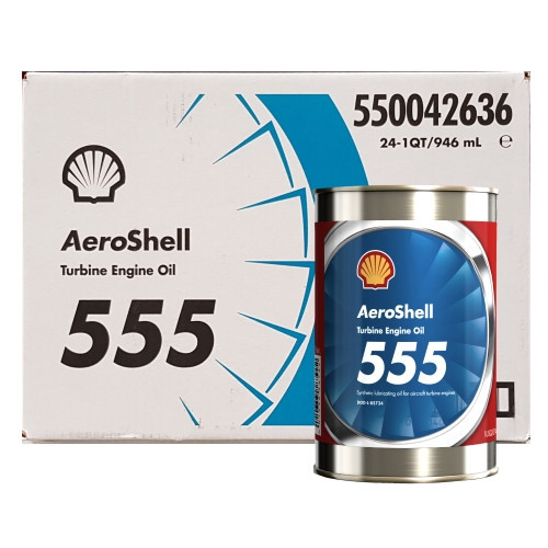 AeroShell Turbine OIL 555 - 24 x 1 US Quart