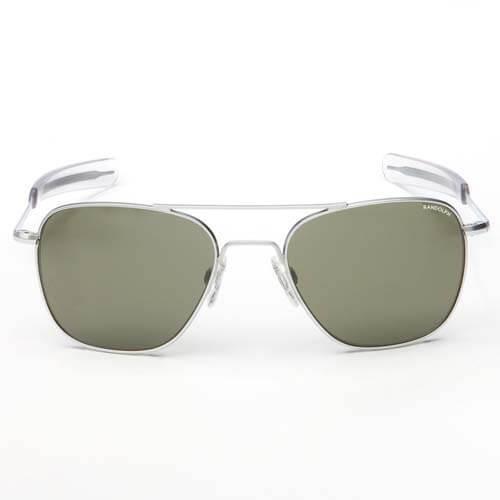 Randolph Aviator Matte Chrome Bayonet Sunglasses 55MM