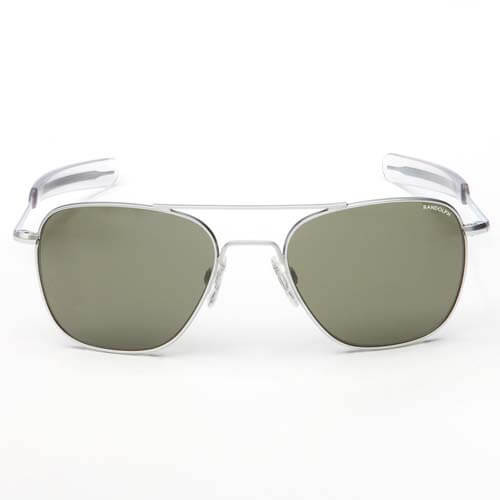 Randolph Aviator Matte Chrome Bayonet Sunglasses 55MM