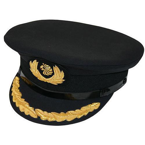 Pilot UniForm Cap Black with Oakleaves