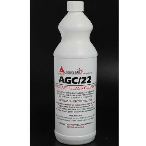 AGC 22 Aircraft Glass Cleaner 1L Spray bottle