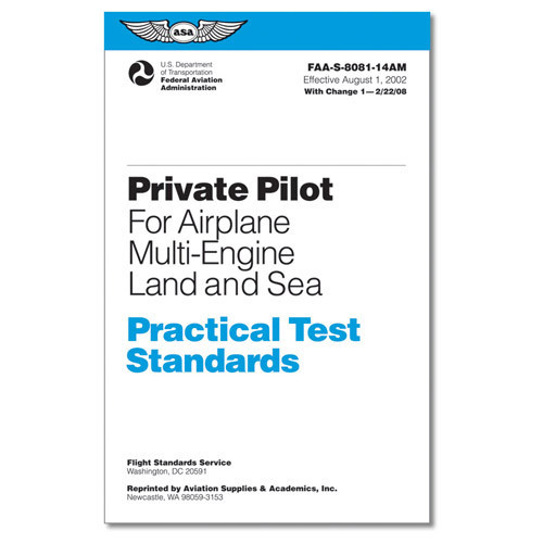 PRAC TEST STD'S Private Pilot Airplane Multi eng