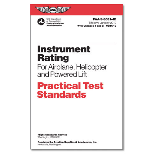 Practice Test Standards- Instrument Pilot