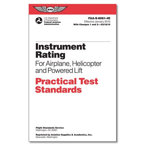Practical Test Standards- Instrument Pilot