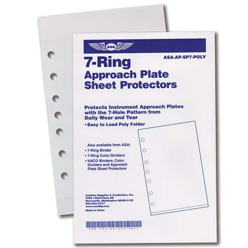 ASA 7 RING POLY SHEET PROT 10 PACK